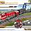 Thumbnail: Kazi Ky98219 Roter Diesel Güterzug mit Schienenkreis ca.1000 Bausteine