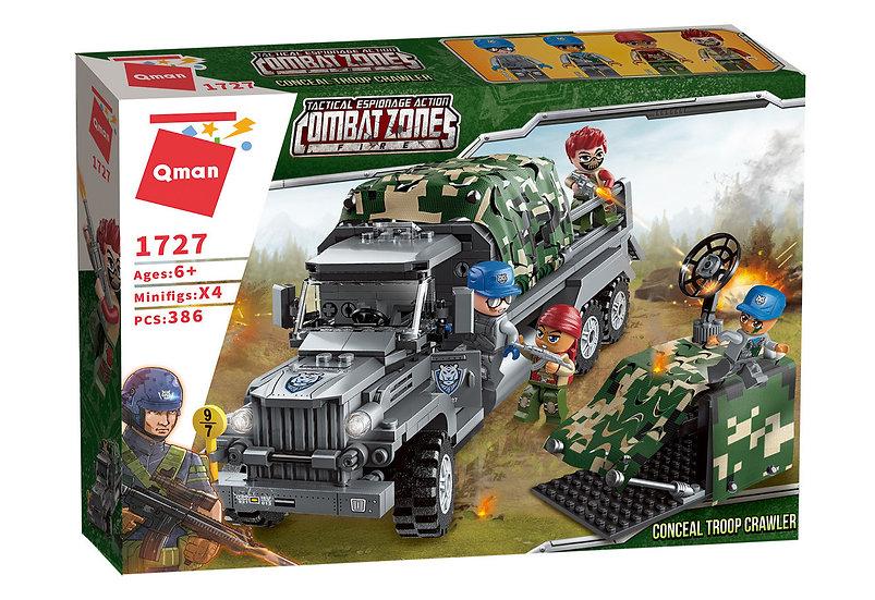 Qman 1727 Combat Zone Truppentransporter 386 Bausteine