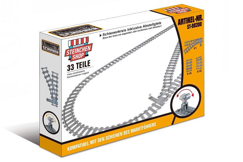 ST 98200 Schienenkreis mit Weiche und Abstellgleis