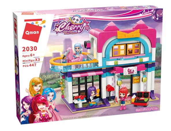 Qman 2030 Cherry Music Party Villa Bausteine 447