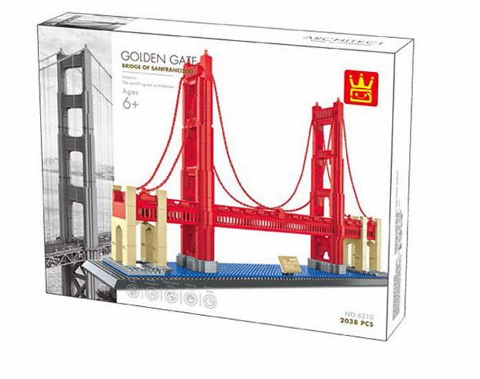 Wange 6210 The Golden Gate Bridge  Bausteine 2038