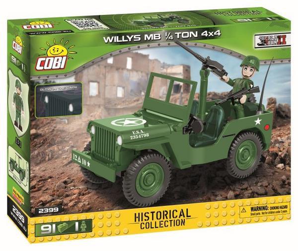 Cobi 2399 Willys MB 1/4 Ton 4*4 91 Bausteine