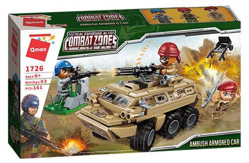 Qman 1726 Battle Force Army Armored Car 161 Bausteine