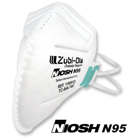 Mascarilla N95 para polvo, termosellada, plegada, desechable •  x 20 Unidades