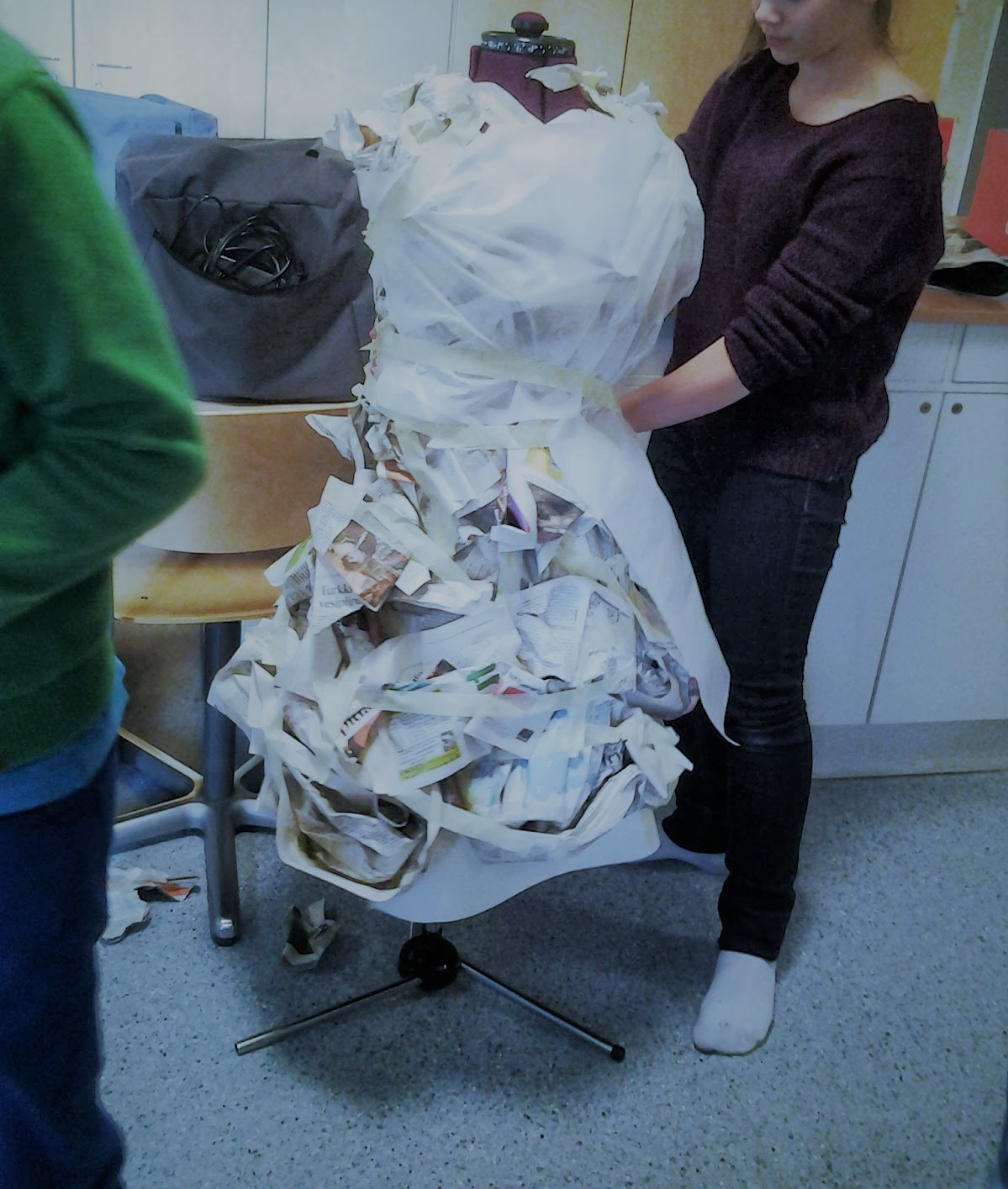 Making a dress out of paper