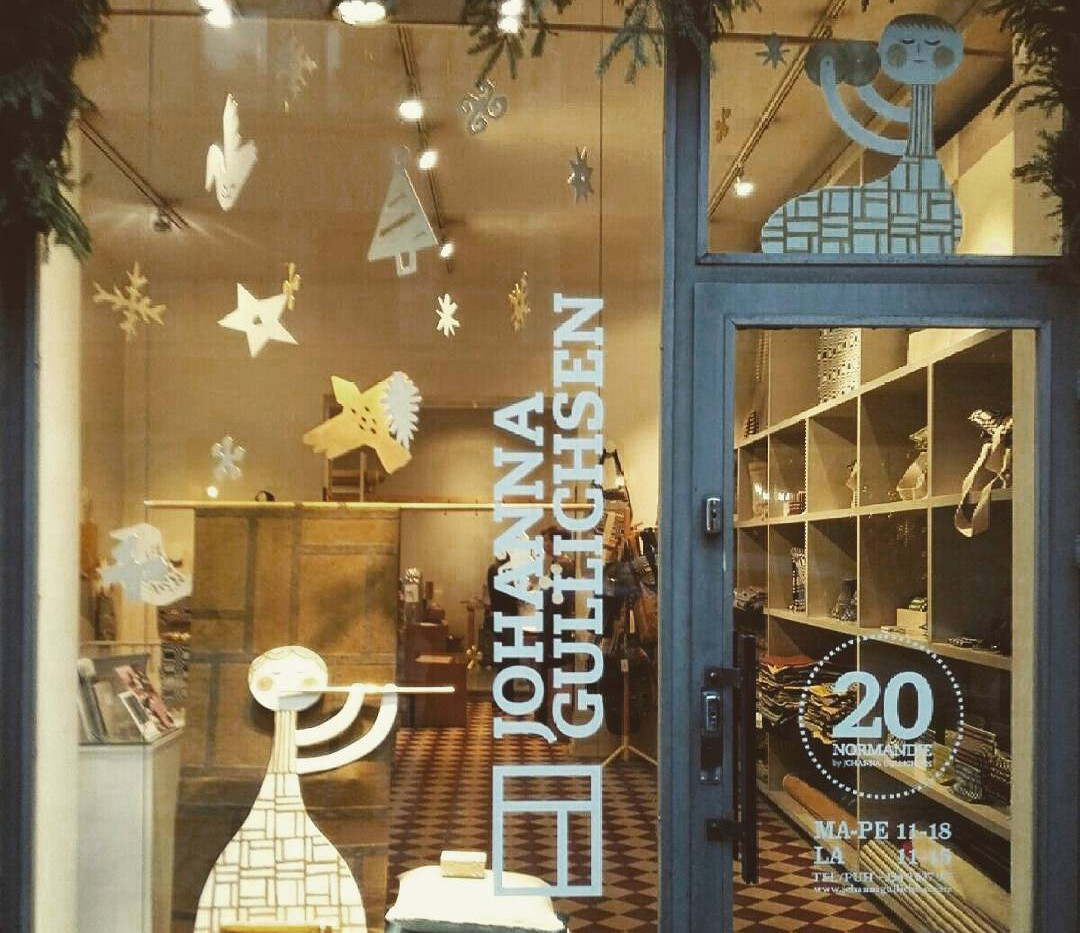Window display plywood sculptures for Jo