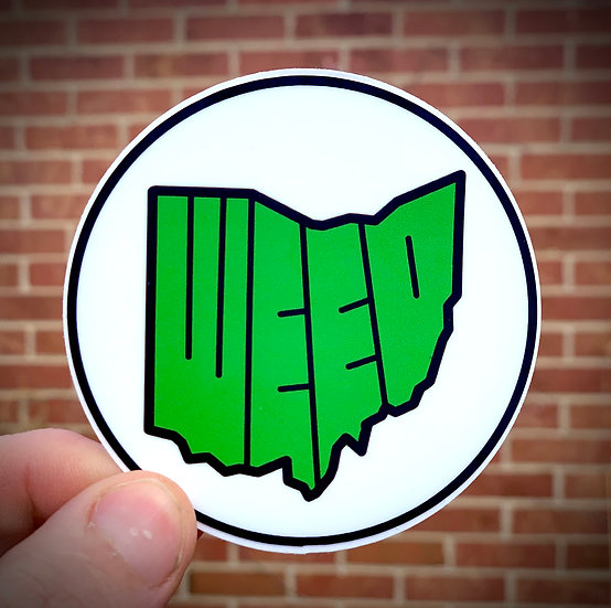 Weed Ohio Sticker