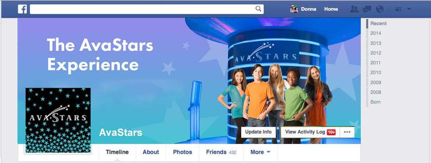 Avastars - Facebook Page Design