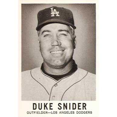 Duke Snider   - 1960 Leaf