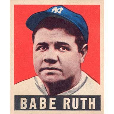 Babe Ruth    - 1940 Leaf