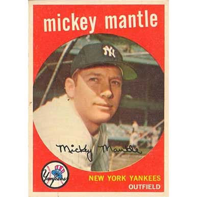 Mickey Mantle   - 1959 Topps
