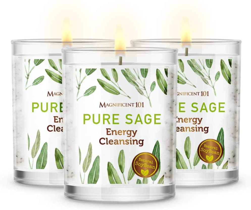 Magnificent 101: Pure Sage Energy Cleansing Candles