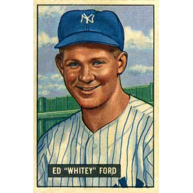 "Ed ""Whitey"" Ford 1951 Bowman"