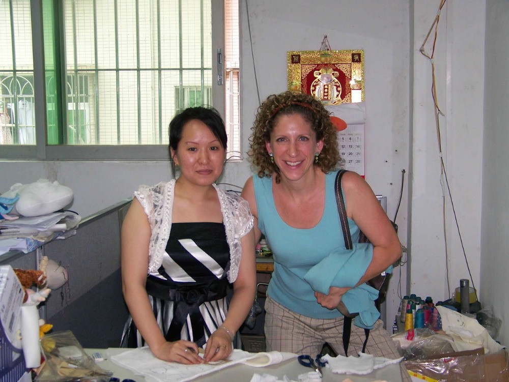Adrienne in Asia with Manufacturer