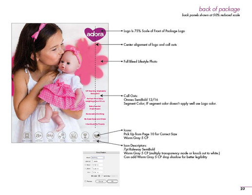 Adora Style Guide - Packaging