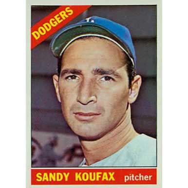 Sandy Koufax  - 1966 Topps