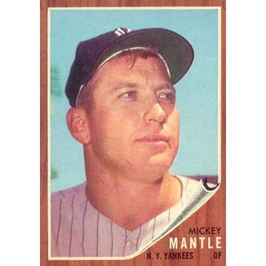Mickey Mantle  - 1962 Topps