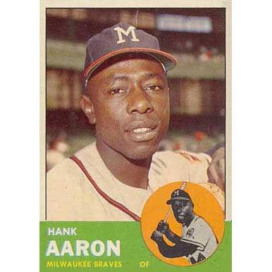 Hank Aaron  - 1963 Topps