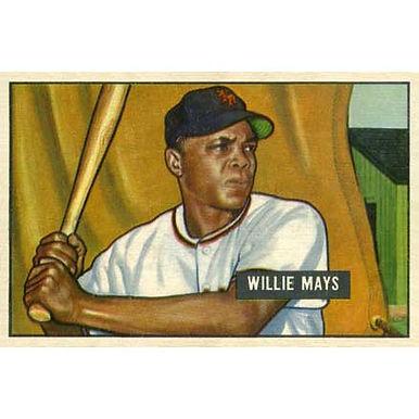 Willie Mays 1951   - 1952 Bowman