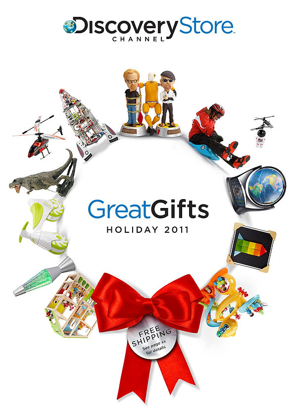 Discovery Store Channel Great Gifts Holiday 2011 Catalog Cover