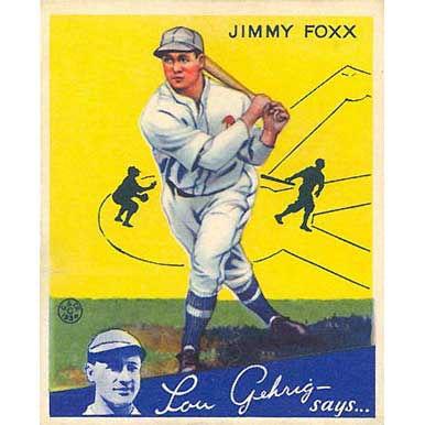 Jimmy Foxx    - 1934 Goudey