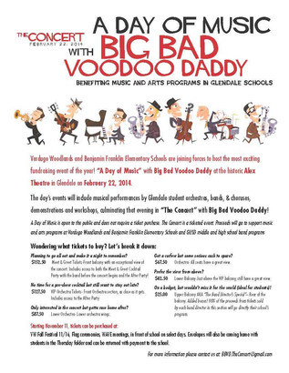 Big Bad Voodoo Daddy - Fundraiser Event Information