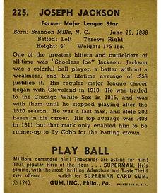 1940 Play Ball Baseball Cards