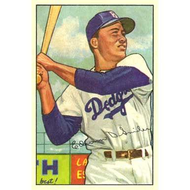 "Edwin ""Duke"" Snider    - 1952 Bowman"