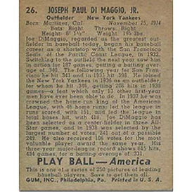 1939 Play Ball Baseball Cards