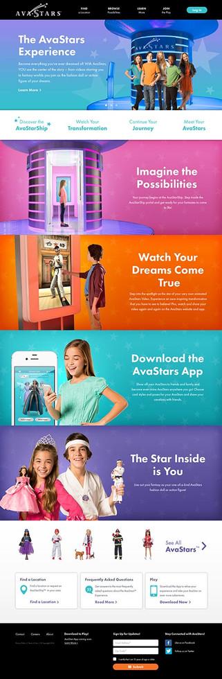 Avastars - Website Home Page Design