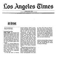 LOS ANGELES TIMES: ART REVIEWS