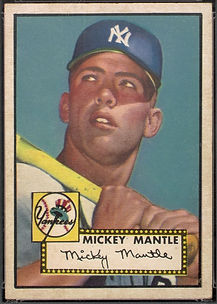 1952 Topps Mickey Mantle EX 5