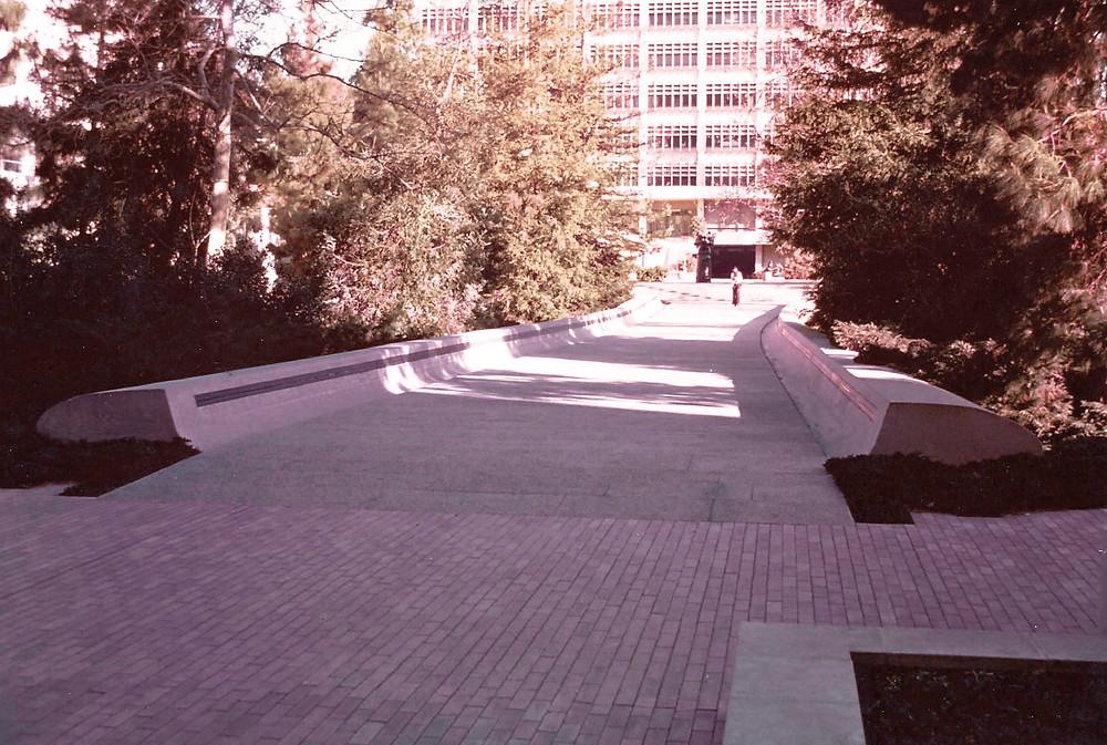 The Franklin D. Murphy Sculpture Garden at UCLA Entrance