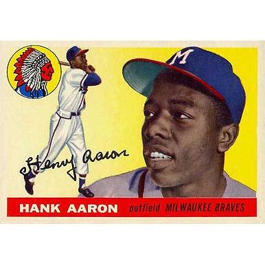 Hank Aaron   - 1955 Topps