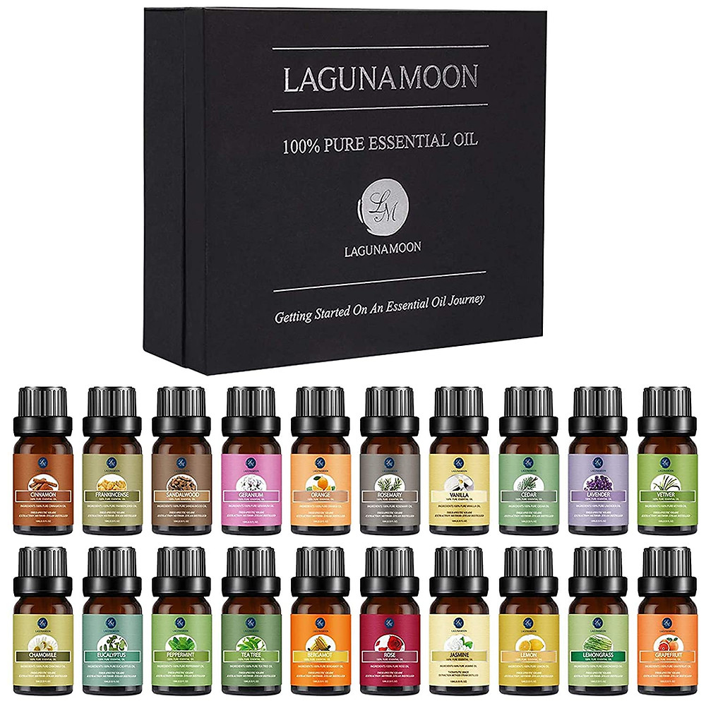 LagunaMoon Premium Essential Oils Set
