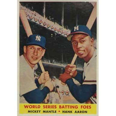 Batting Foes   - 1958 Topps