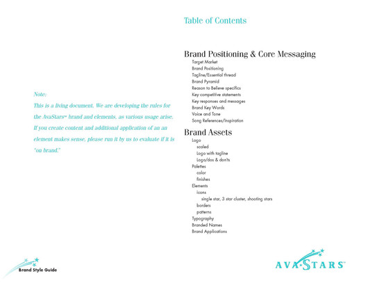 Avastars - Brand Style Guide Sample Page