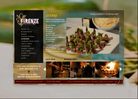 Firenze Osteria - Website Menu Page