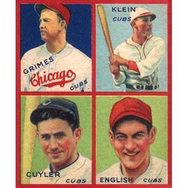 Cubs    - 1935 Goudey