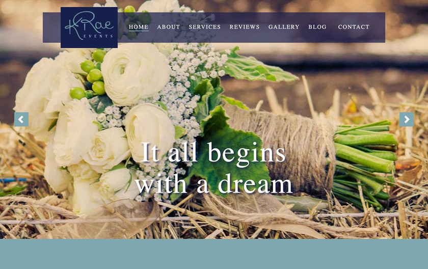 K Rae - Website Home Page