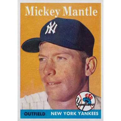 Mickey Mantle   - 1958 Topps