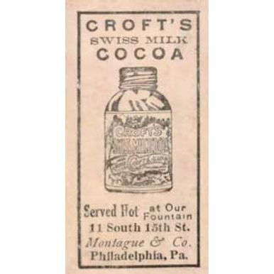 Croft's Cocoa - 1909 Caramel E92