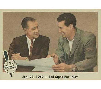 Ted Signs for 1959   - 1959 Fleer