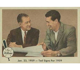 Ted Signs for 1959