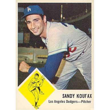 Sandy Koufax  - 1963 Fleer
