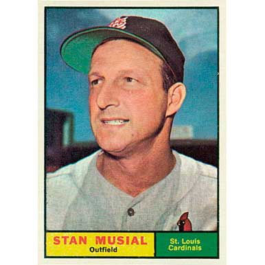 Stan Musial  - 1961 Topps