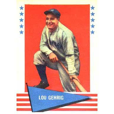 Lou Gehrig  - 1961 Fleer