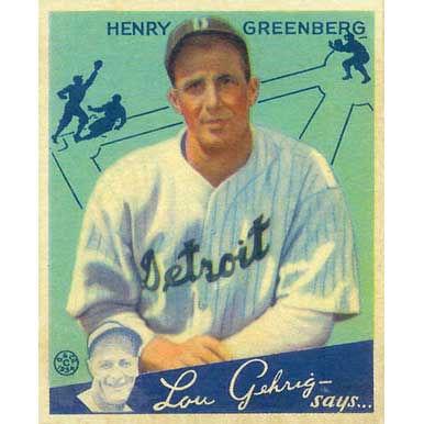 Hank Greenberg    - 1934 Goudey