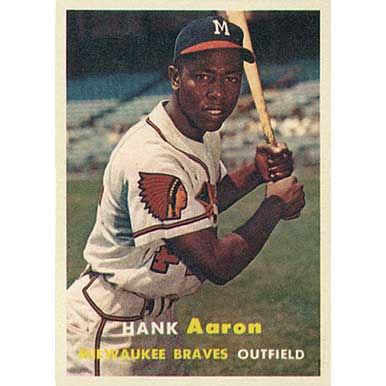 Hank Aaron  - 1957 Topps