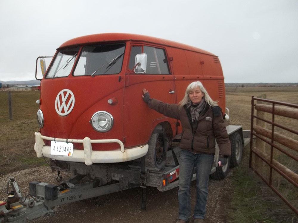 My VW bus, which I bought in Spokane back in 1990